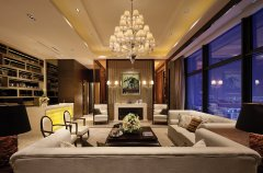 武汉驿山高尔夫复式楼美式混搭风格